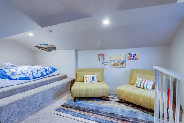 Loft Bedroom (Above Bunk Room), Queen - Second Floor