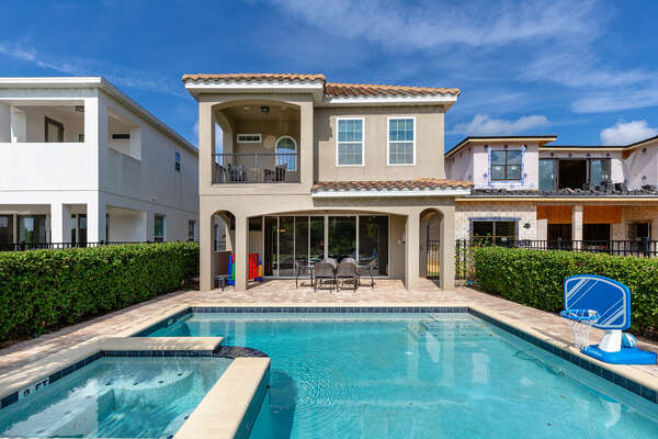 Shoot hoops with your friends and family in Fairway Manor's private pool