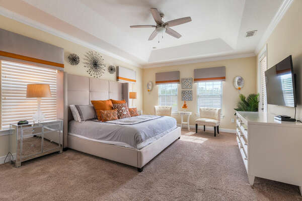 The Master Suite on the second floor
