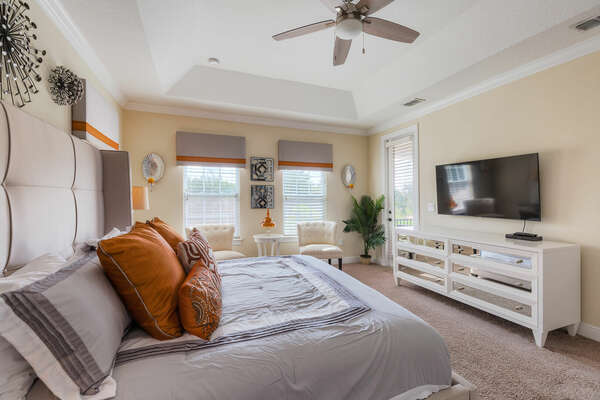 Watch a movie on the Master Suite SMART TV