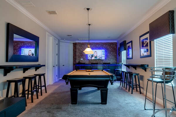 Play a few rounds of pool with your friends and family