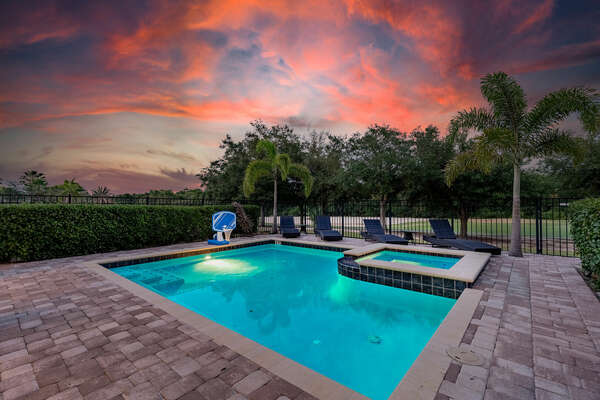 Take in the gorgeous Florida sunset