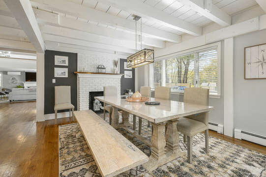 Dining room off of Kitchen seats 8 - 44 Avalon Circle Osterville Cape Cod New England Vacation Rentals