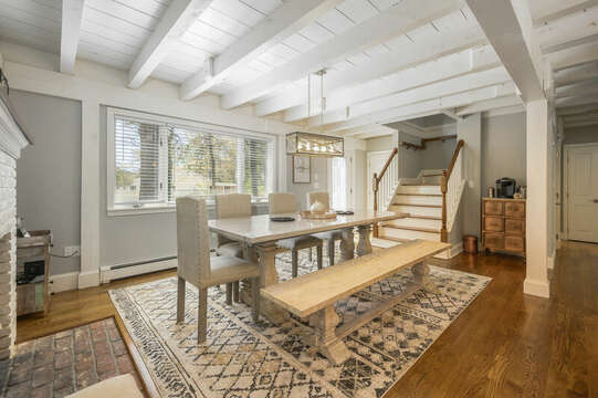Stairs to second floor off dining room - 44 Avalon Circle Osterville Cape Cod New England Vacation Rentals