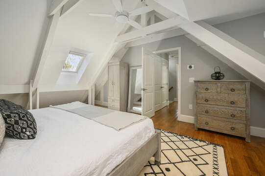Bedroom #3 King bed, armoire, skylights, ceiling fan - 44 Avalon Circle Osterville Cape Cod New England Vacation Rentals