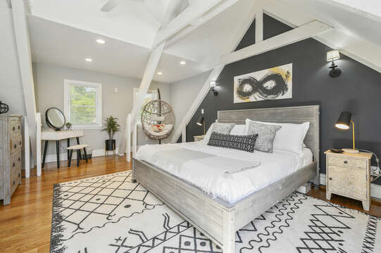 Restful nights are a breeze in the stylish Master bedroom with King bed - 44 Avalon Circle Osterville Cape Cod New England Vacation Rentals