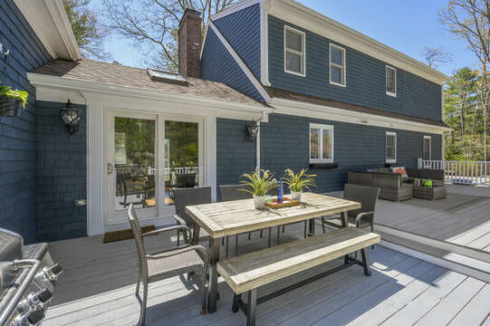 Entertain with all the great space on the multi level deck - 44 Avalon Circle Osterville Cape Cod New England Vacation Rentals