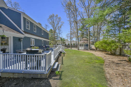 Large back yard - 44 Avalon Circle Osterville Cape Cod New England Vacation Rentals