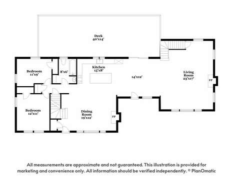 Main Level Floor Plan at - 44 Avalon Circle Osterville Cape Cod New England Vacation Rentals