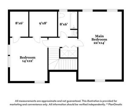Upper Level Floor Plan at  - 44 Avalon Circle Osterville Cape Cod New England Vacation Rentals