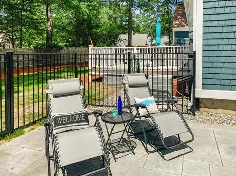 Kick back and relax around the pool at- 44 Avalon Circle Osterville Cape Cod New England Vacation Rentals