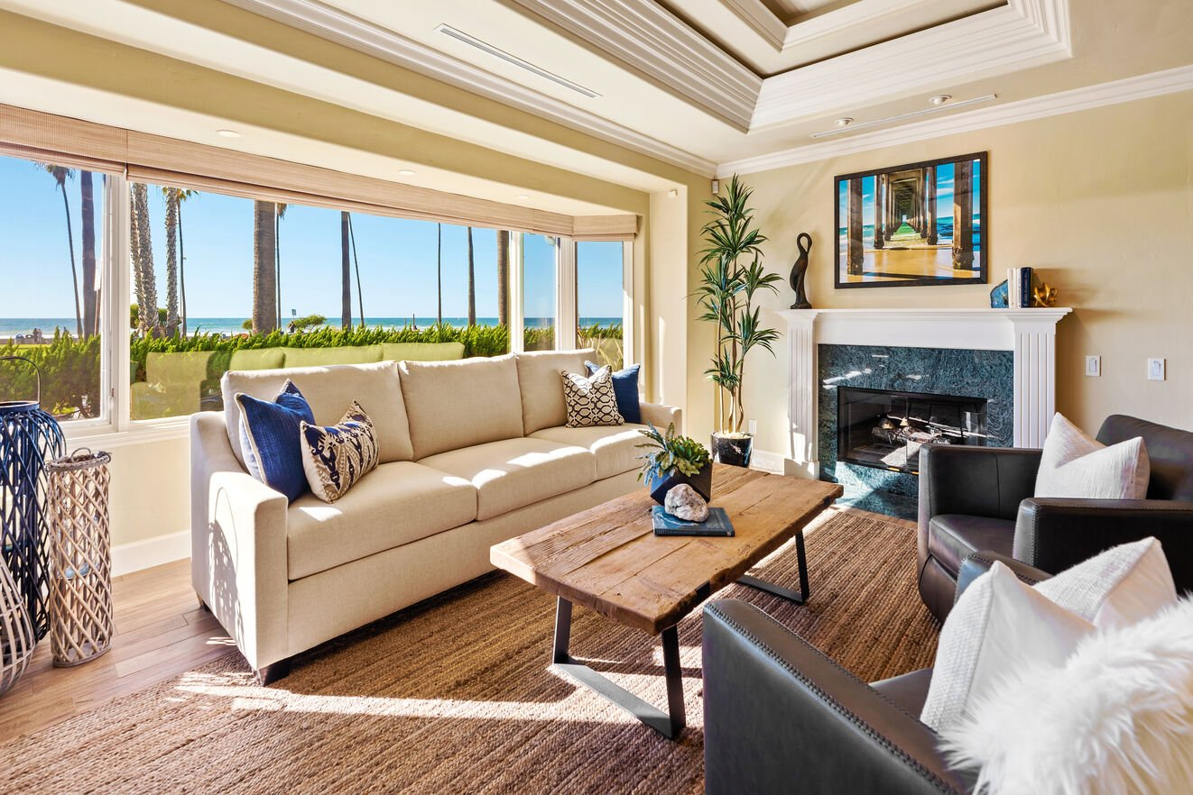 Amazing oceanfront views from the downstairs great room.