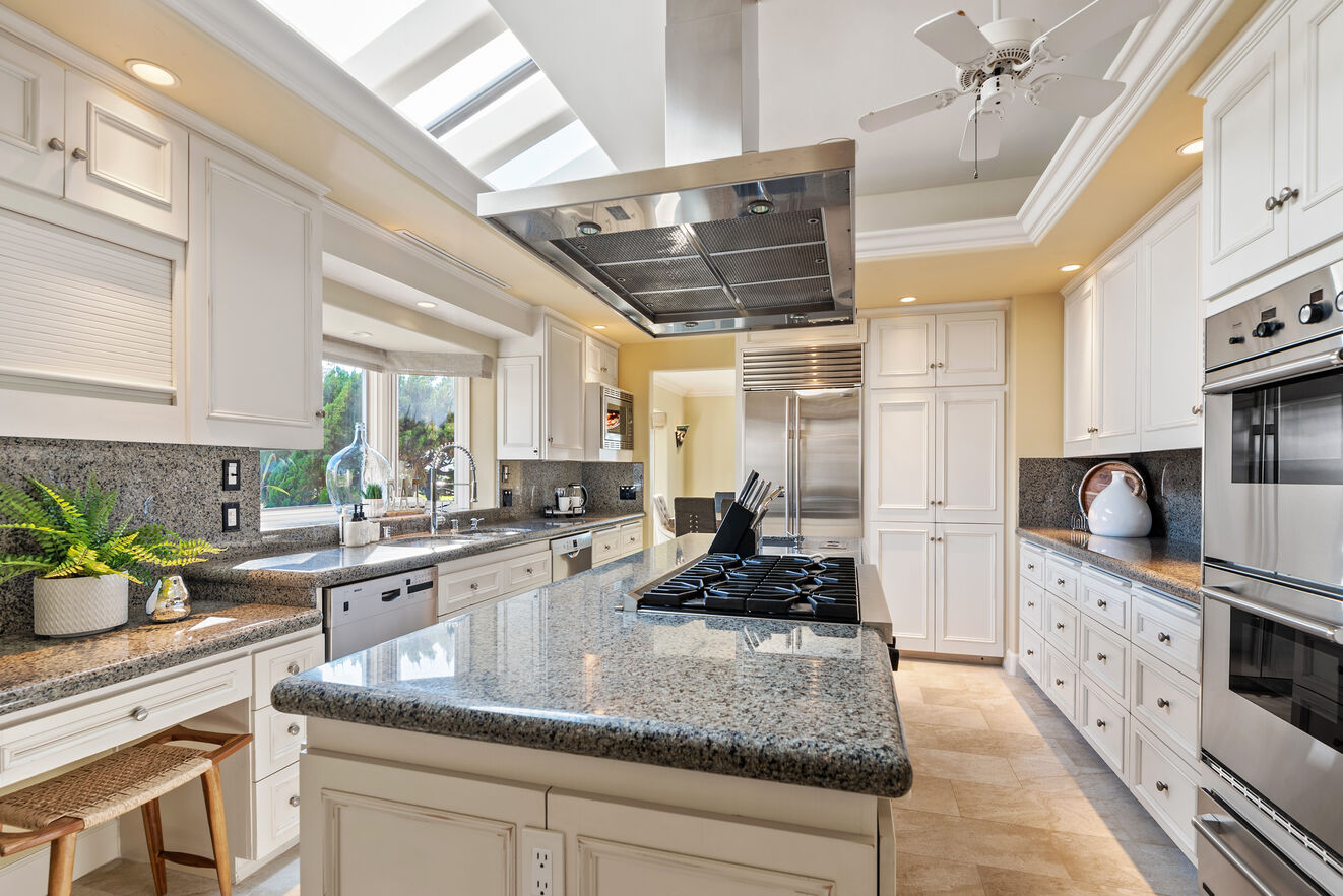 The skylights in the kitchen create a bright open space for you to enjoy.