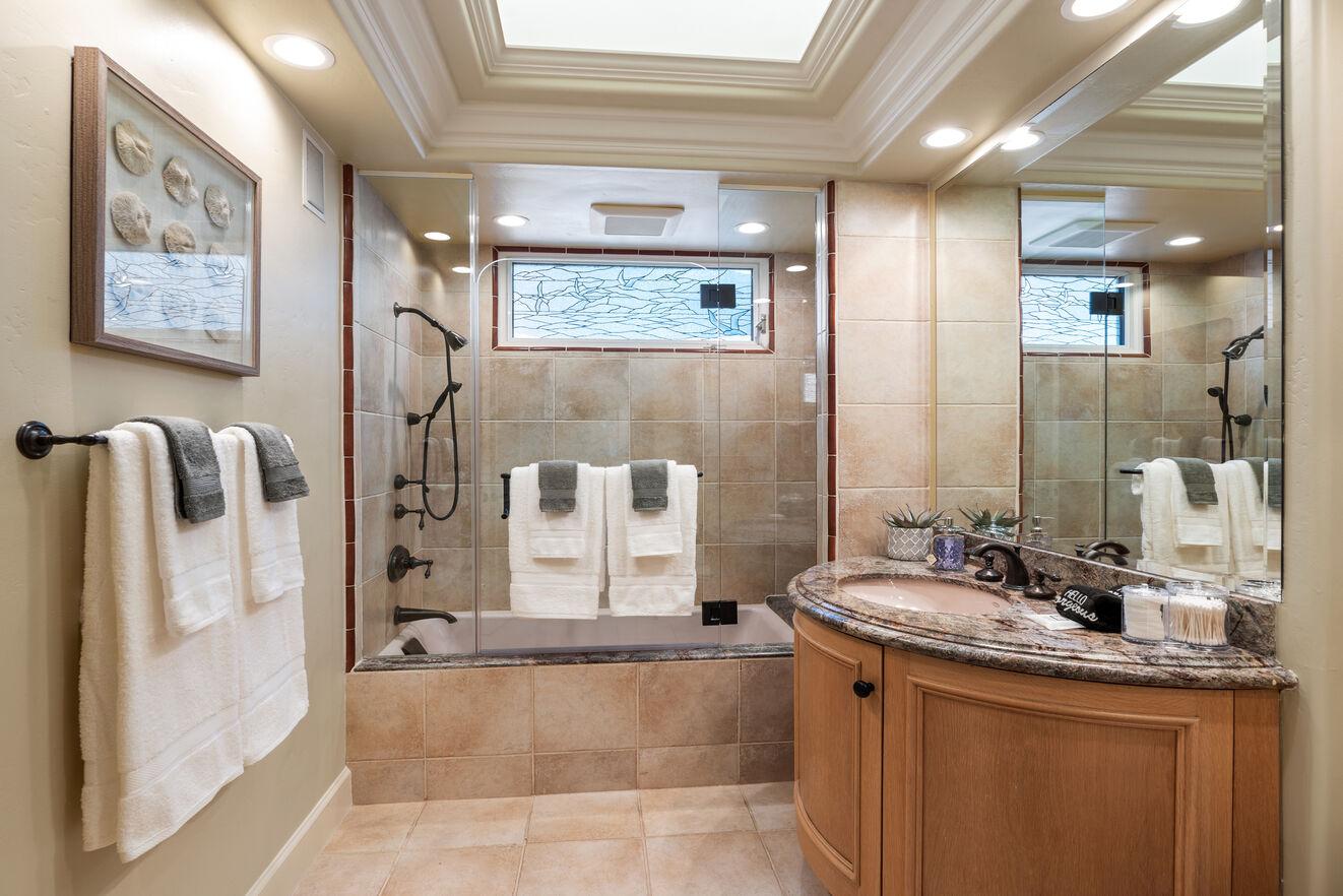 Shared bath - main level between bedrooms 1 & 2