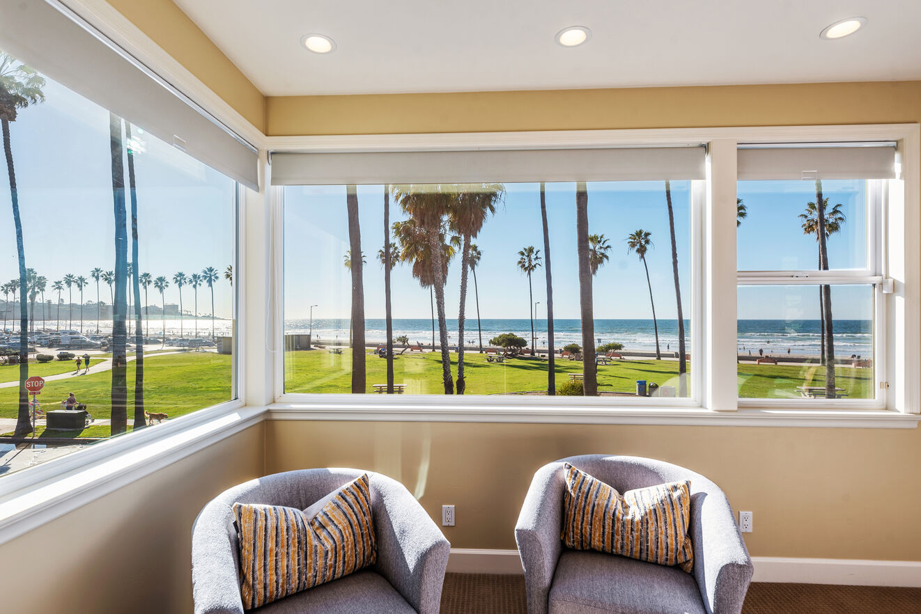 Oceanfront views from the master bedroom.
