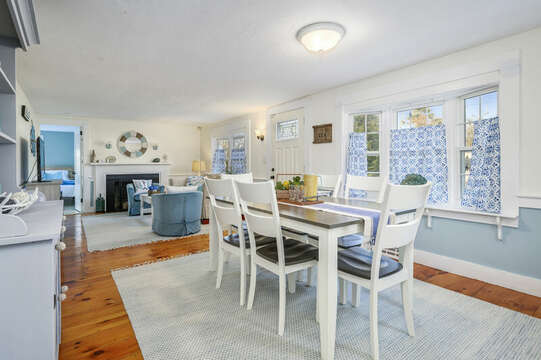 Dining room seats six - 85 Pond Street South Yarmouth Cape Cod - New England Vacation Rentals