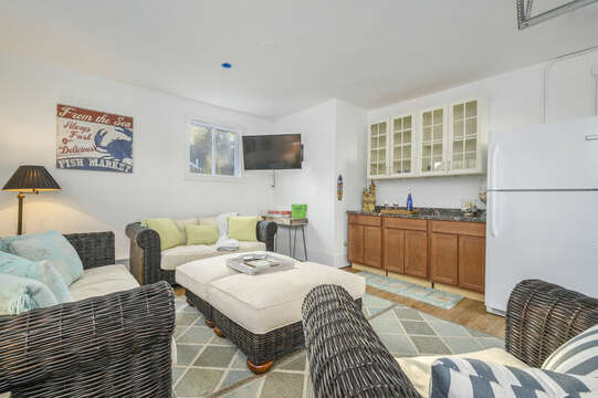 Comfy lounging furniture in TV room - 85 Pond Street South Yarmouth Cape Cod - New England Vacation Rentals
