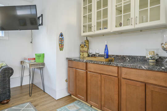 Perfect area to make drinks or prepare a snack - 85 Pond Street South Yarmouth Cape Cod - New England Vacation Rentals
