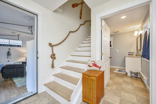 Stairs to upper level - 85 Pond Street South Yarmouth Cape Cod - New England Vacation Rentals