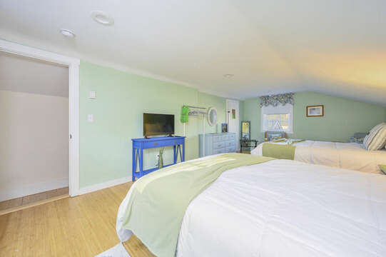 Two queen beds with TV - 85 Pond Street South Yarmouth Cape Cod - New England Vacation Rentals