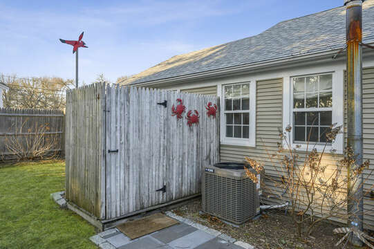 Hot and Cold water in outdoor shower - 85 Pond Street South Yarmouth Cape Cod - New England Vacation Rentals