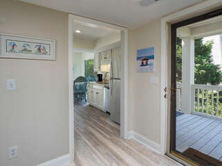Enter through the glass front door into this bright and light filled villa.