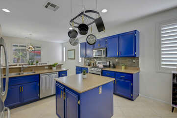 The fully-equipped kitchen includes everything you would need to cook a 5 star meal.
