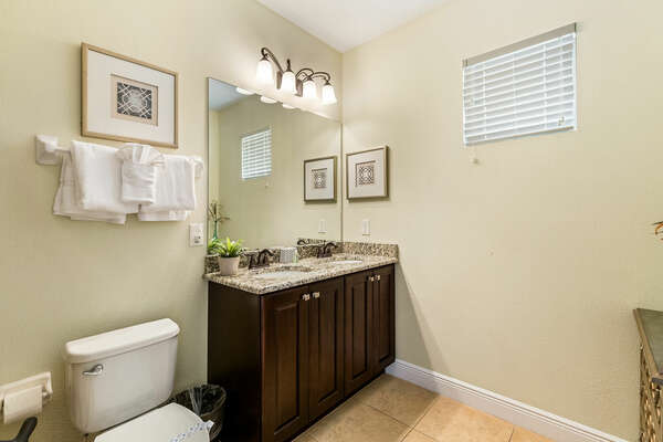 Bathroom for guests to get ready in