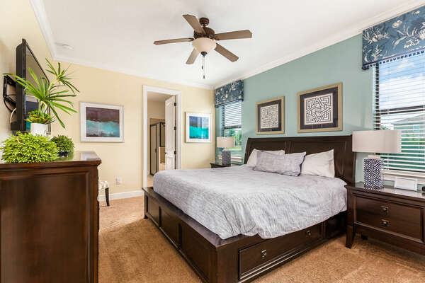 Master Suite located on the first floor