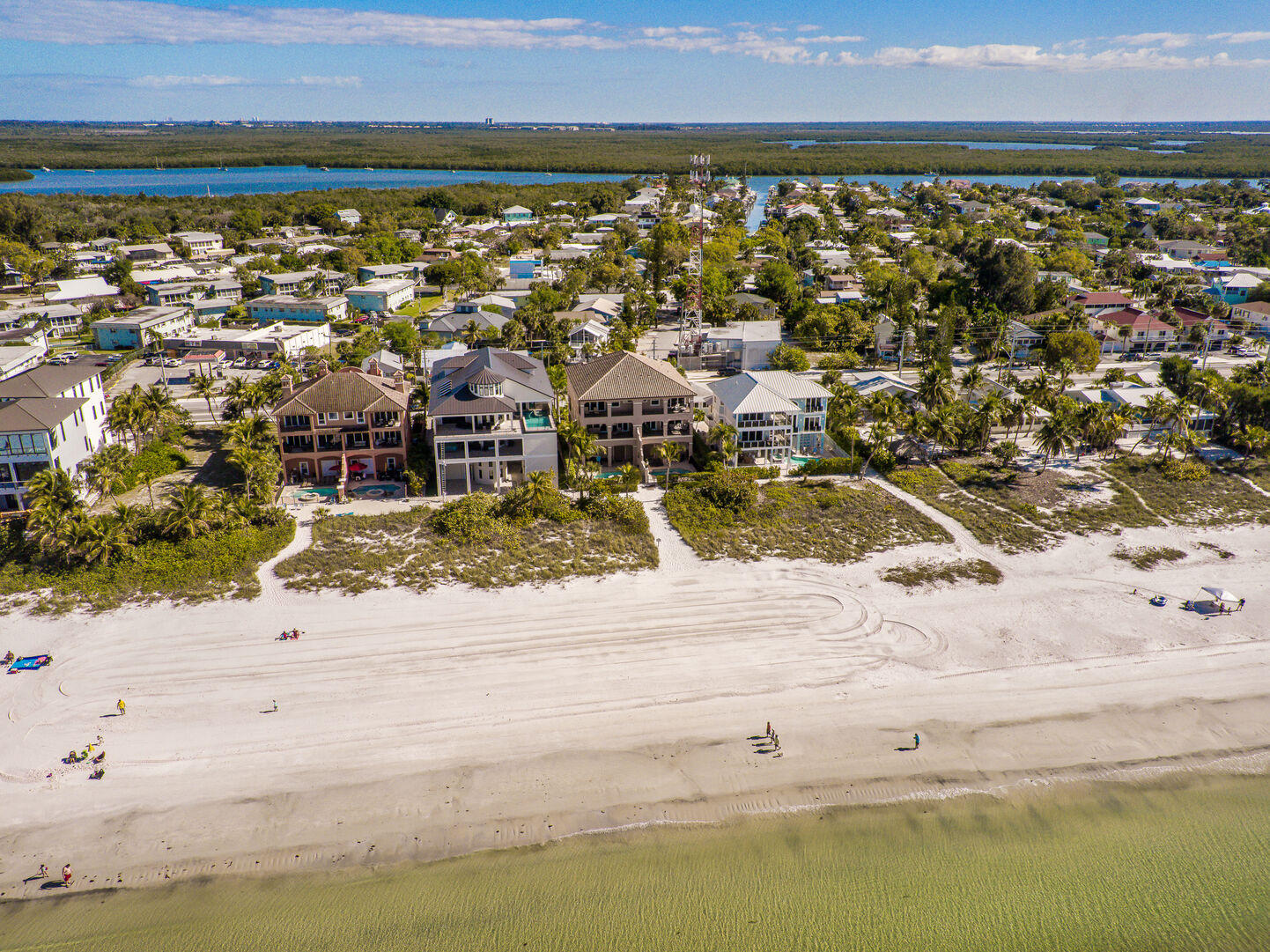 Aerial view of the area near our Fort Myers vacation home rental