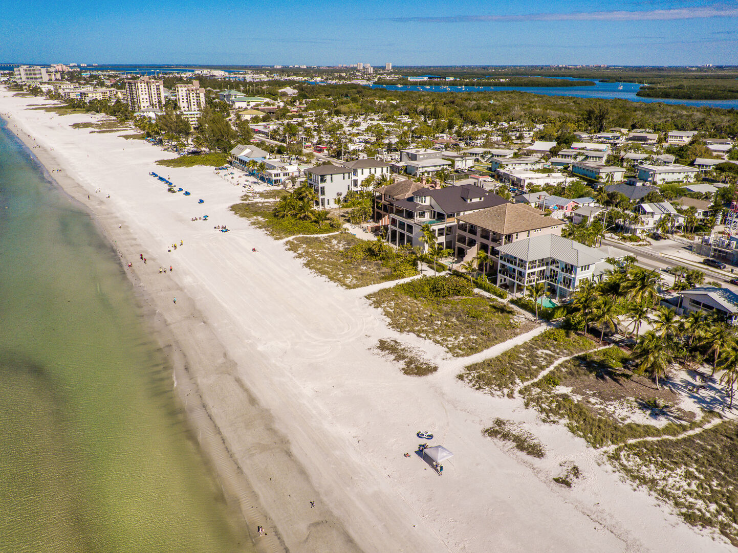 Aerial view of the coast near our Fort Myers vacation home rental