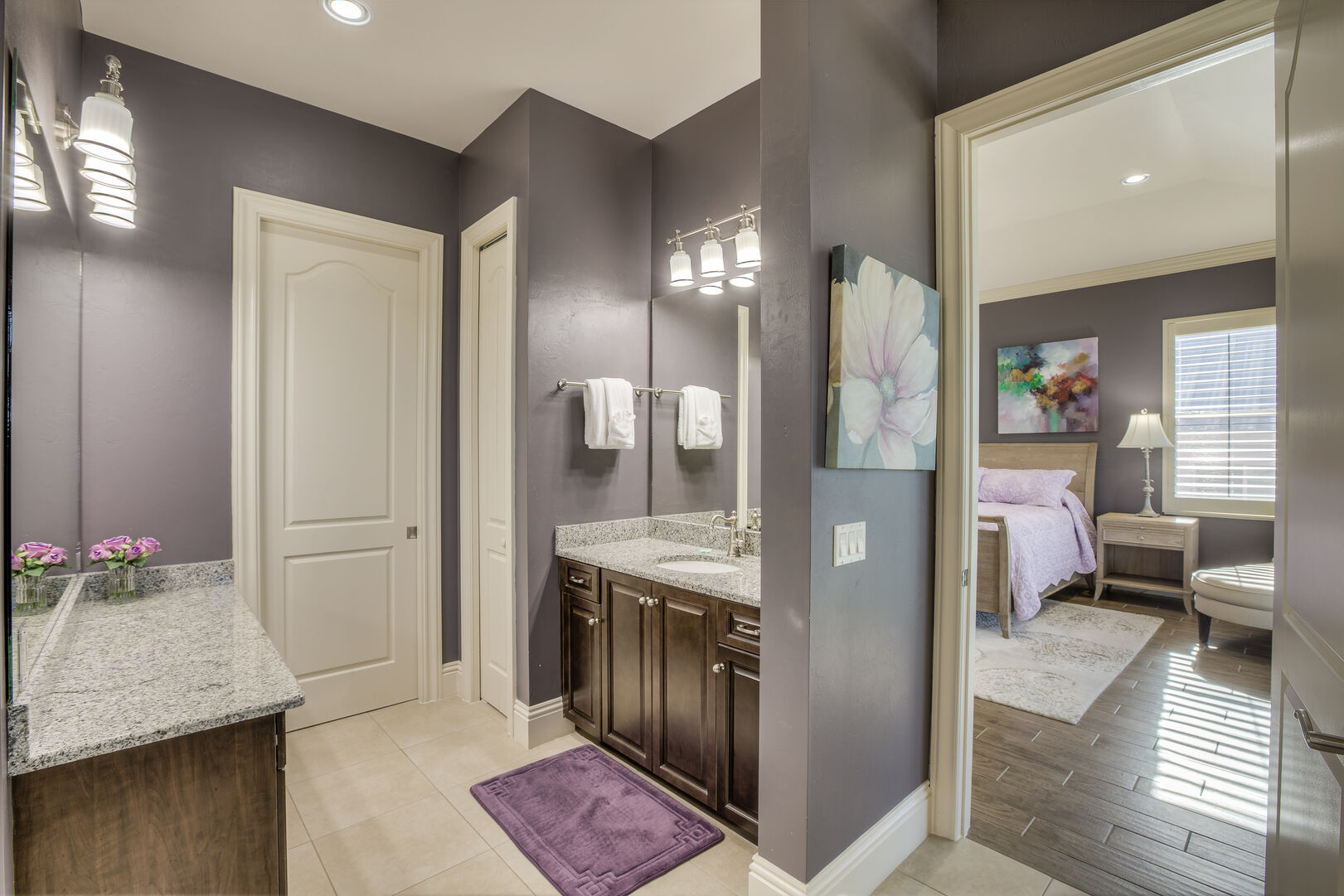 Master bathroom in our Fort Myers vacation home rental