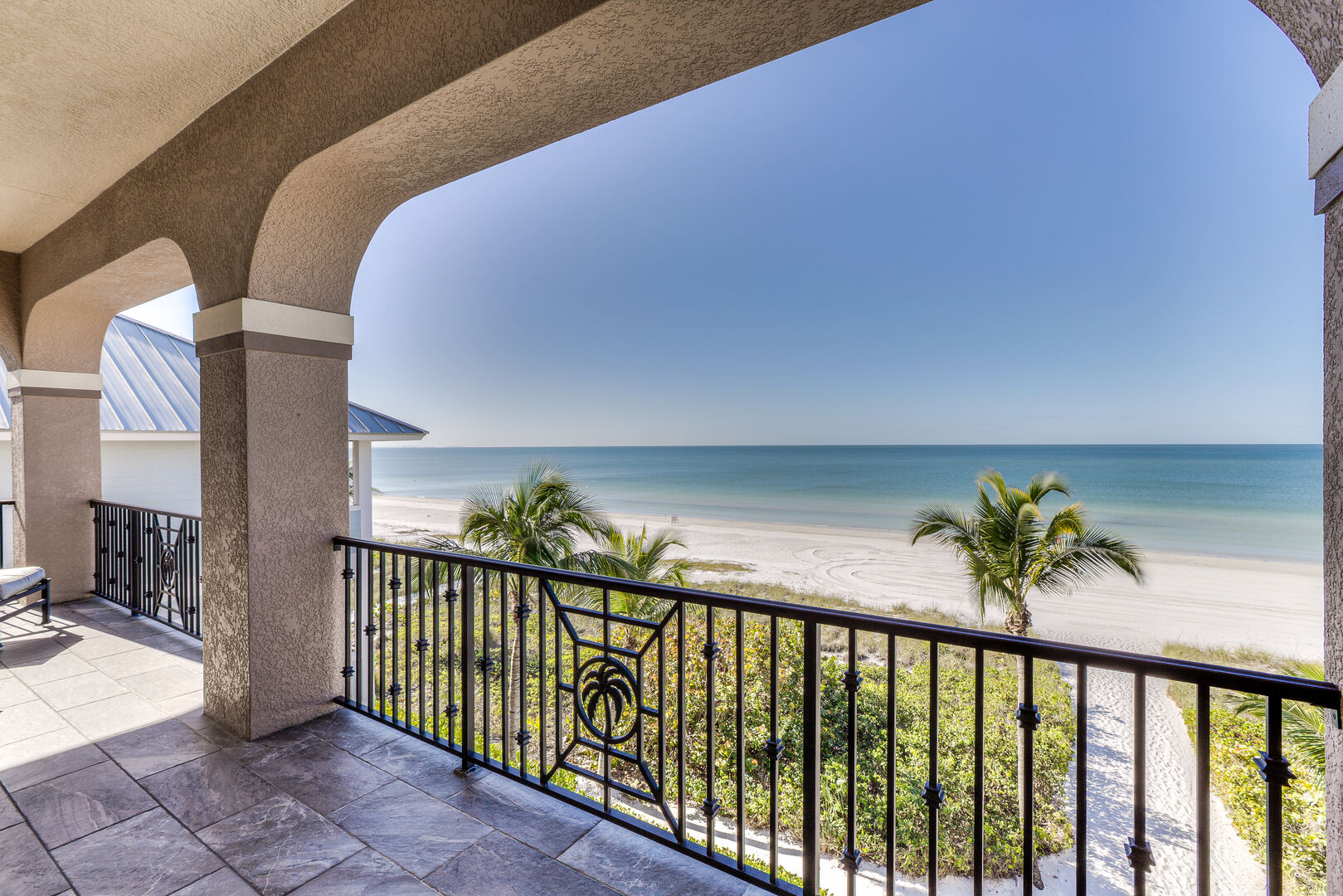 Balcony with beach views in our Fort Myers vacation home rental