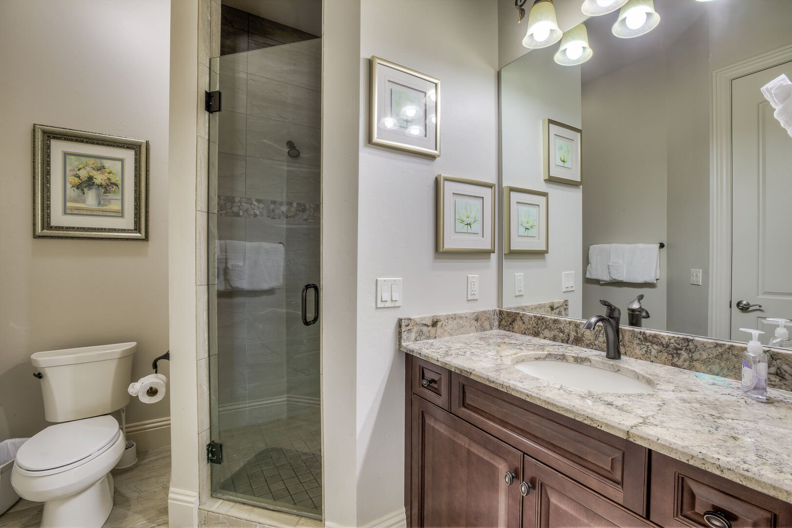 Guest bathroom with shower in our Fort Myers vacation home rental