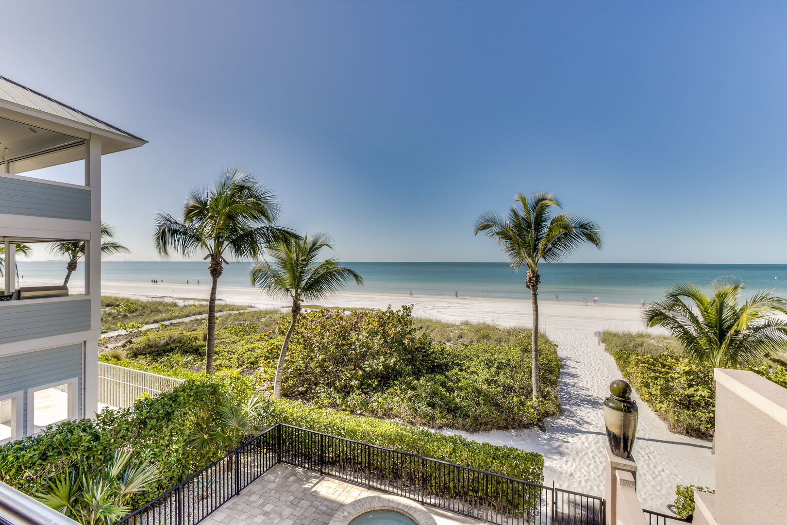 Beach views from our Fort Myers vacation home rental