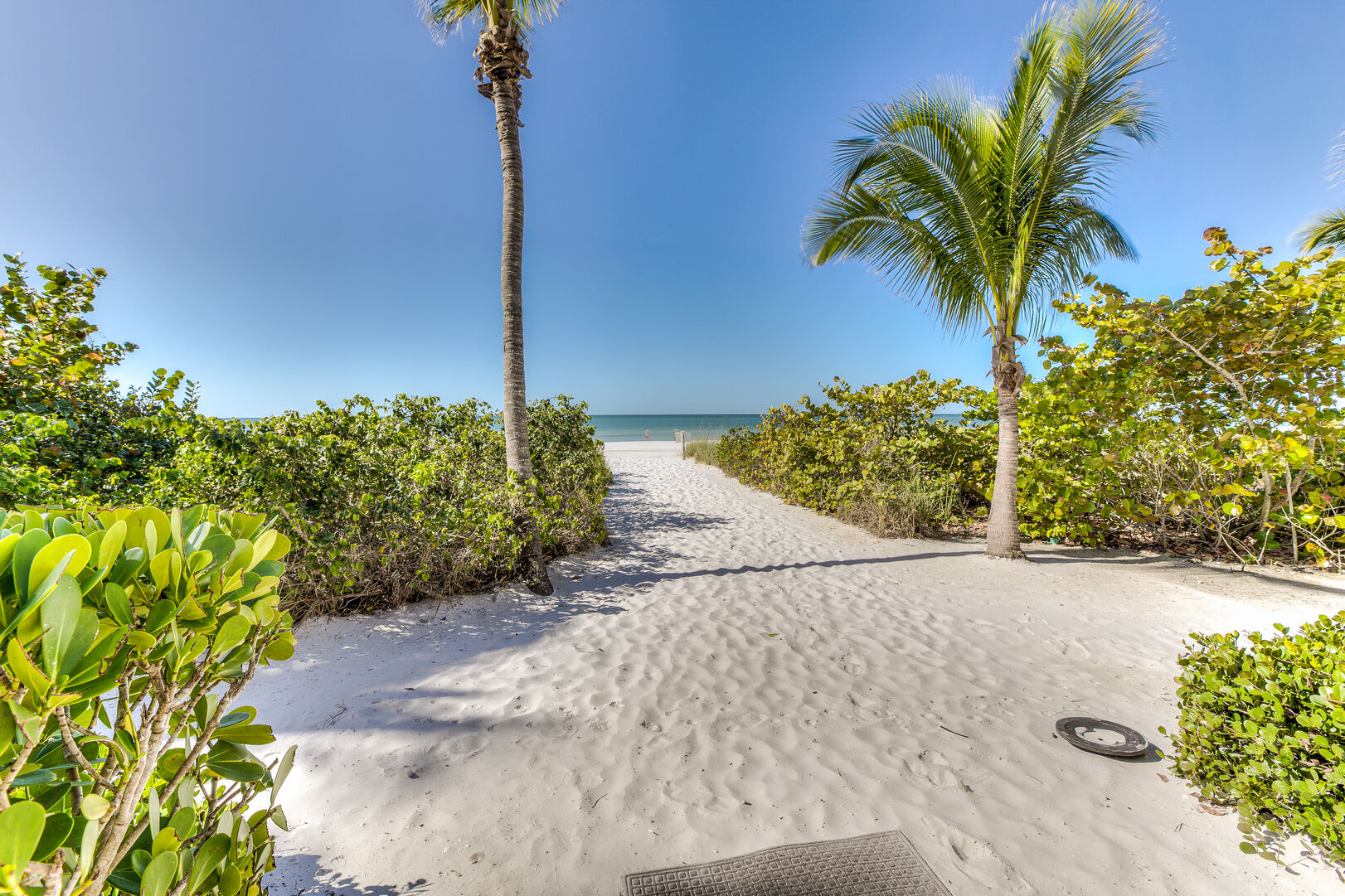 Sand path to beach from our Fort Myers vacation home rental