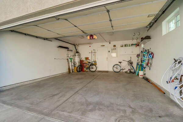 2-Car Garage with Beach Gear