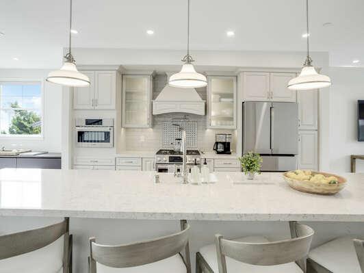 2nd Floor - Chef's Kitchen w/ Modern Appliances