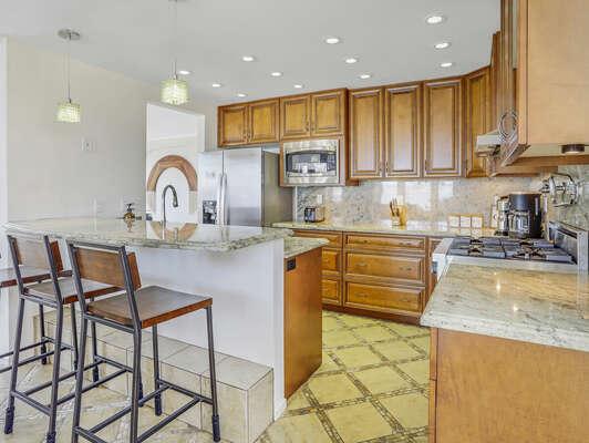 Kitchen w/ Bar-Top Seating - 1st Floor