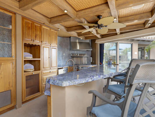 Outdoor Kitchen & Bar-Top Dining
