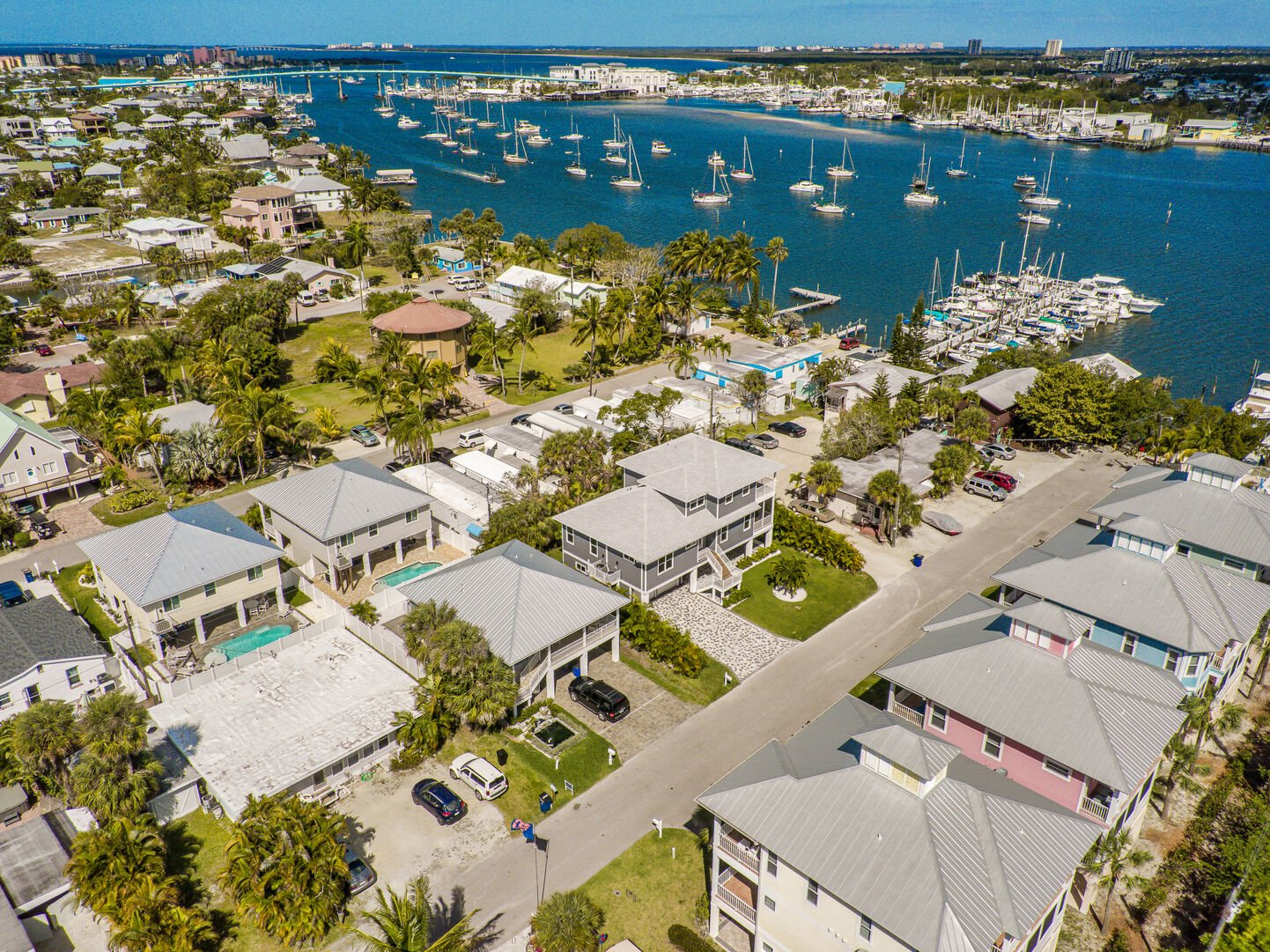 Aerial View of the neighborhood and our Fort Myers Vacation House Rental
