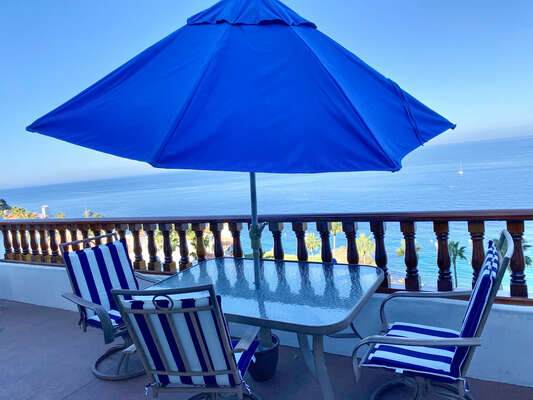 Relax to the sounds of the ocean on your private balcony