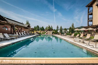 Enjoy one of the largest pools in Steamboat