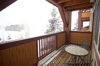 Covered deck off the living room
