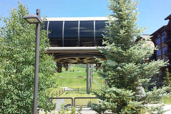 The Gondola loading area is a short walk from your door