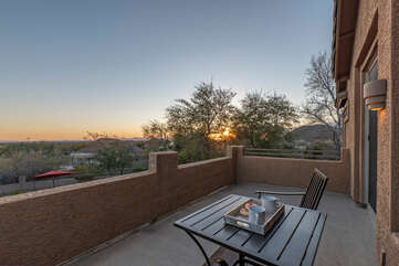 Wow! A private deck off the primary suite for romantic interludes with a view!