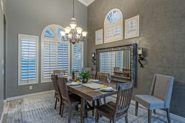Entertain guests you want to impress in the lovely dining area.