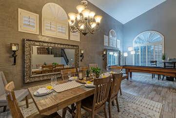 Serve more formal meals in the elegant dining room.