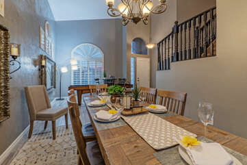 Come together to enjoy home cooked meals or play board games.