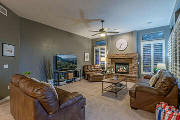 Gather in the cozy great room to plan your adventures or stream a favorite series on the large TV.